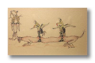 Dr. Seuss, 'Long Dog', ca. 1950s