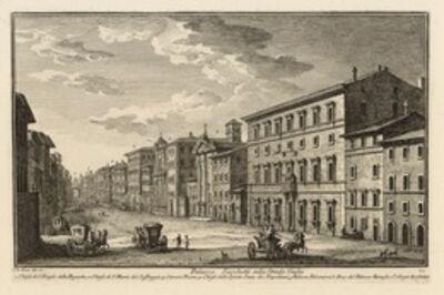 Giuseppe Vasi, 'Palazzo Sacchetti sulla Strada Giulia', 1747