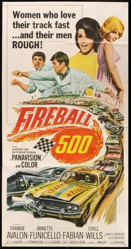 Anon, 'FIREBALL 500 Original Vintage American Theatrical Folded Three-Sheet Poster', 1966