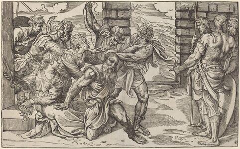 Niccolò Boldrini after Titian, 'Samson and Delilah', ca. 1540