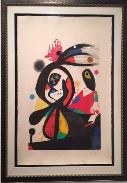 Joan Miró, 'L'Aigrette.Roug', 1976