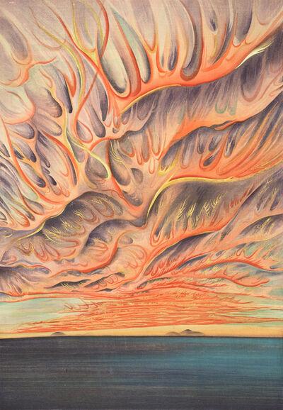Chiura Obata, 'Setting Sun on Sacramento Valley, California', 1930