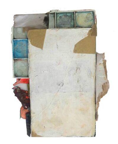 Adrian Montenegro, 'Rectángulo blanco con colores bienvenidosa las afueras', 2014