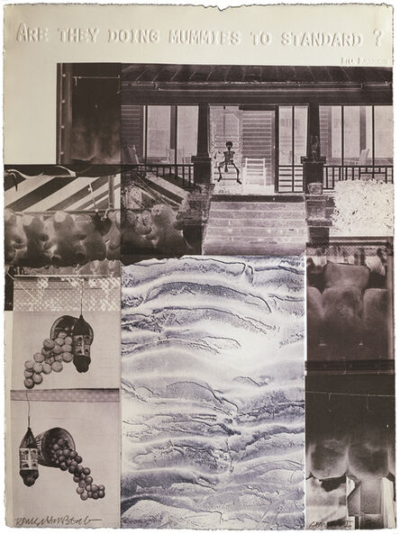 Robert Rauschenberg, 'American Pewter with Burroughs IV', 1981