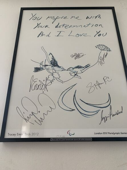 """Tracey Emin, '""""YOU INSPIRE ME WITH YOUR DETERMINATION AND I LOVE YOU"""" SIGNED EDITION', 2012"""