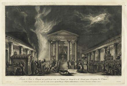 Jean Claude Richard de Saint-Non (author), 'Temple d'Isis … Pompeii tel qu'il devoit ˆtre en l'ann'e 79', 1781-1826