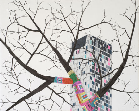Erik Benson, 'no title (Knit bomb)', 2015