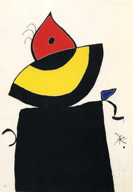 Joan Miró, 'Quatre colors aparien el món…', 1975