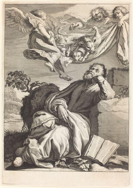Jeremias Falck after Johann Liss, 'The Dream of Saint Peter'