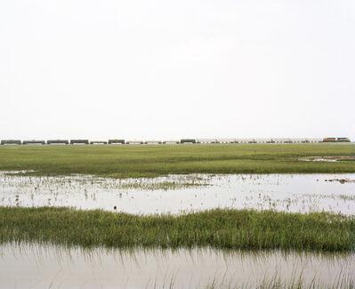 Victoria Sambunaris, 'Untitled (Trains Crossing Estuarial Corridor-5), Virginia Point, Texas', 2015