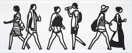 Julian Opie, 'Walking in Melbourne 5, from Walking in Melbourne series', 2018