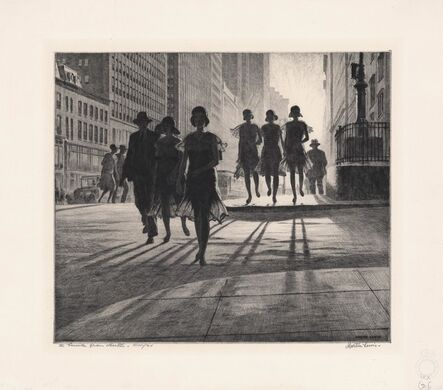 Martin Lewis, 'Shadow Dance', 1930