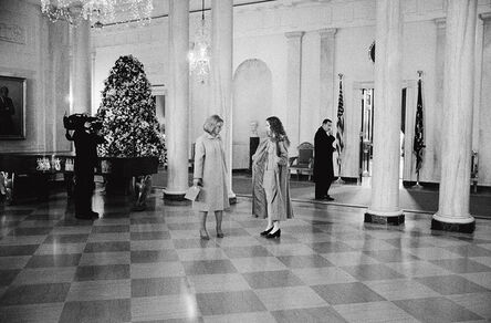 Diana Walker, 'Hillary and Chelsea Clinton, State Floor, the White House', 1997