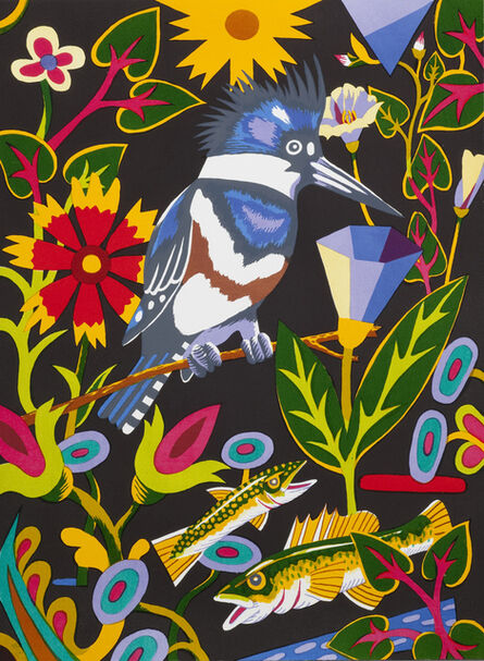 Billy Hassell, 'Kingfisher (at night)', 2015