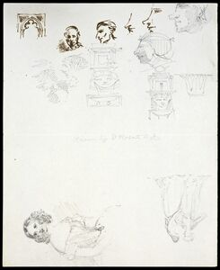 David Roberts, 'Sketches of heads and figures'