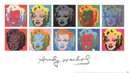 Andy Warhol, 'Ten Marilyns (White Background)', 1997