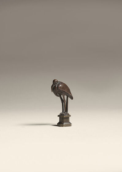 Antoine-Louis Barye, 'Stork, Desk Seal', ca. 1845