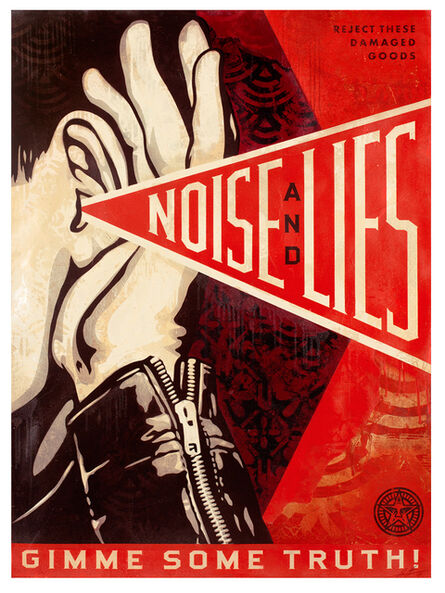 Shepard Fairey, 'Noise and Lies (Red)', 2018