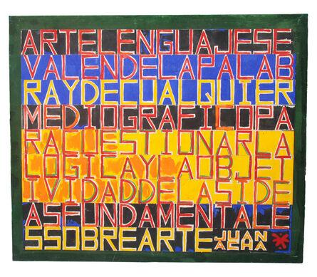 Herbert Rodríguez, 'Arte lenguaje', 1983