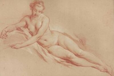 François Boucher, 'A reclining female nude'