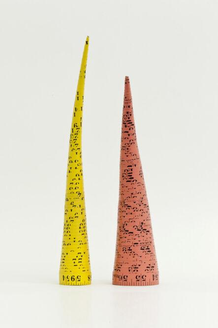 Jana Sterbak, 'Measuring Tape Cones/Massbandkegel', 1979