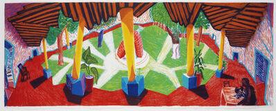 "David Hockney, '""Hotel Acatlan: Two Weeks Later""', 1985"