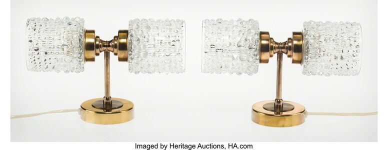 Carl Fagerlund, 'Pair of Two-Light Sconces', circa 1955