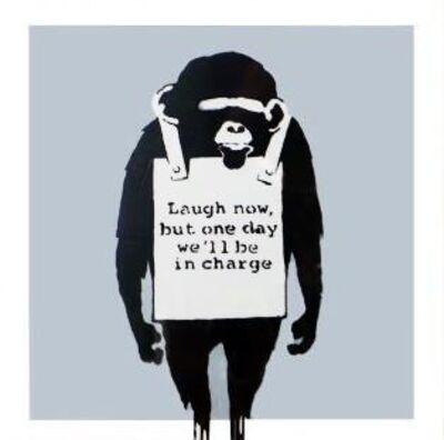 Banksy, 'Laugh Now (Silver) Vinyl Record (Framed)', 2008