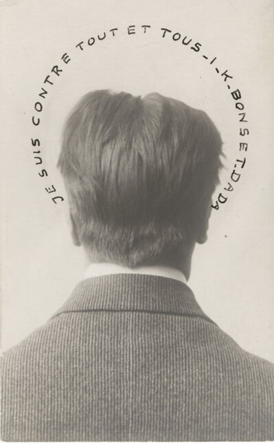 Unknown Artist, 'Portrait of I.K. Bonset: I Am Against Everything and Everyone (Je suis contre tout et tous)', 1921