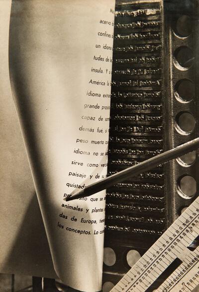 Grete Stern, 'Composición para un libro de varios tipos', 1943