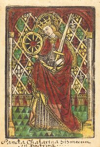 Workshop of Master of the Protective Saints of Cologne, 'Saint Catherine', 1480 or after