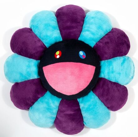 Takashi Murakami, 'Flower Cushion (Blue, Purple, and Navy)'