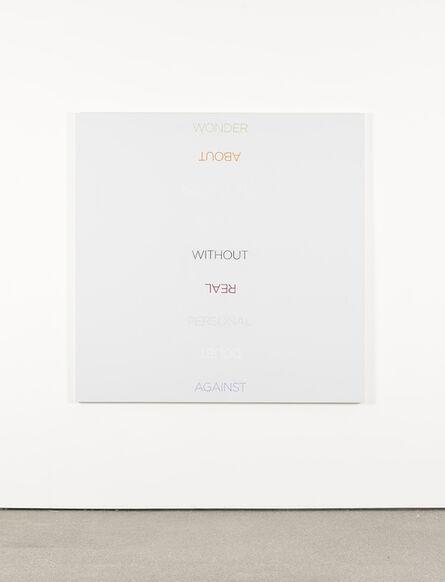 Robert Barry, 'Multicolored Word List', 2009