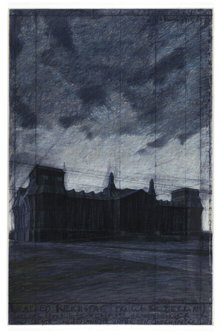 Christo, 'Wrapped Reichstag - drawing', 1992