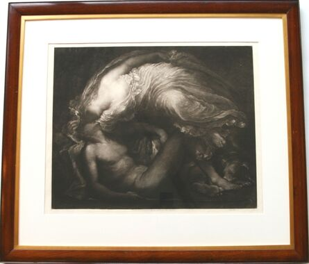 Sir Frank Short, 'Diana and Endymion (after the painting by George Frederic Watts, R.A., H.R.C.A. 1817 - 1904).', 1891