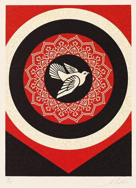Shepard Fairey, 'Dove Target Black', 2012