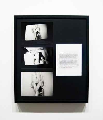 Vito Acconci, 'Conversions III (Association, Assistance, Dependence)', 1970-1971