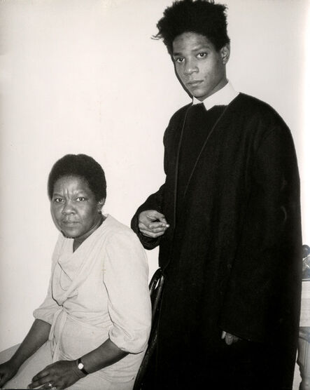Andy Warhol, 'Jean-Michel Basquiat and His Mother', ca. 1984