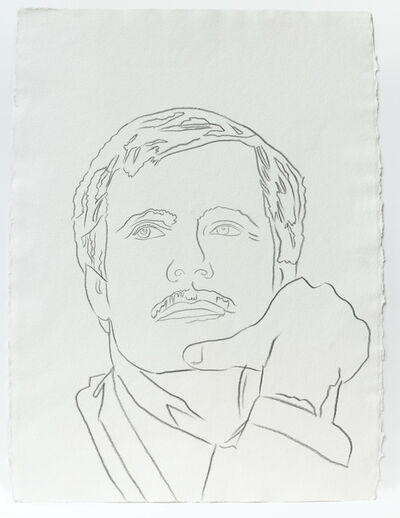Andy Warhol, 'Andy Warhol, Graphite Work on Paper of Ted Turner, 1986', 1986