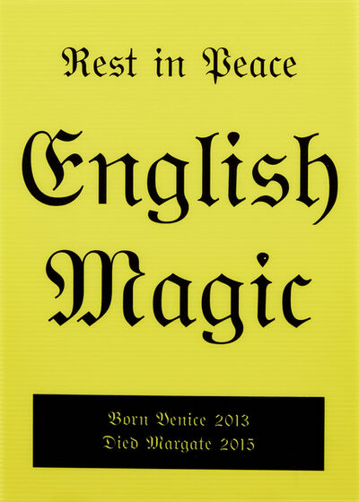 Jeremy Deller, 'Rest in Peace English Magic', 2014