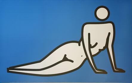 Julian Opie, 'Female nude leaning on both hands', 2000