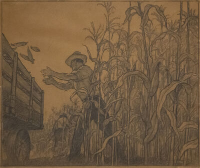 N.C. Wyeth, 'Bringing in the Ears', 1942