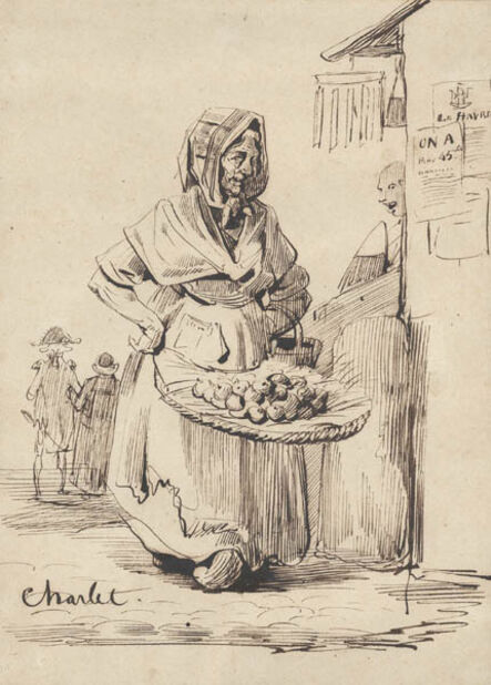 Nicolas-Toussaint Charlet, 'The Fruit Seller', ca. 1840