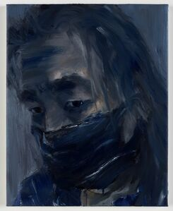 Yan Pei-Ming, 'Autoportrait, la lassitude', 2020