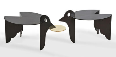 """Hubert Le Gall, '""""Pica & Pica d'Or"""" Pair of Pedestal Tables', 2016"""