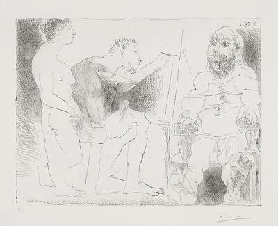 Pablo Picasso, 'Peintre avec un modèle barbu et une spectatrice  (Bloch 1117; Baer 1111)', 1963