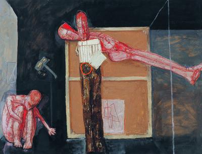 LJUBO IVANČIĆ, 'Artist, Painting and a Figure', 1981