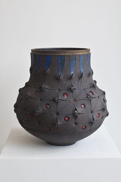 Andile Dyalvane, 'Scarified honeycomb Udu vase', 2016