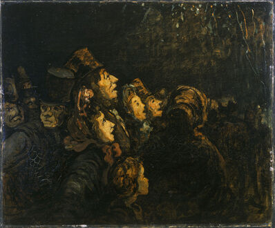Formerly attributed to Honoré Daumier, 'The Rockets', date unknown