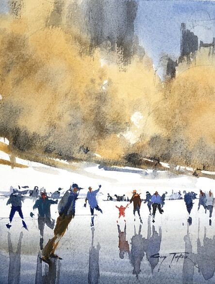 Gary Tucker, 'Winter Fun Frong Pond', 2019
